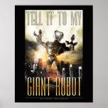 "Dígalo a mi poster gigante del robot (16x20"")"