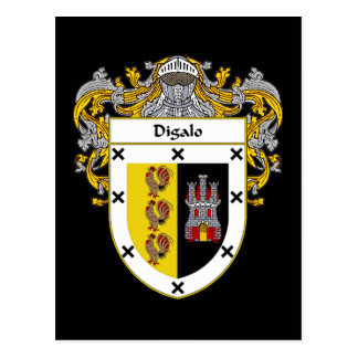 Digalo Coat of Arms/Family Crest Postcard