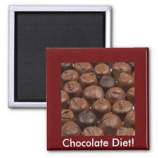 ¡Dígalo con el chocolate! Imán Cuadrado
