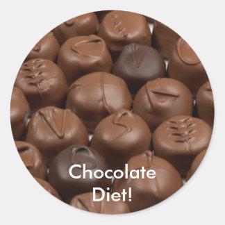 ¡Dígalo con el chocolate! Pegatina Redonda