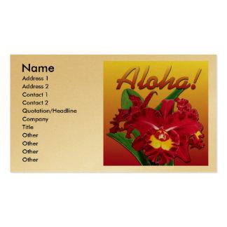 ¡Dígalo con hawaiana! Tarjeta de visita