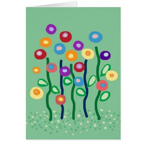 Dígalo con las flores tarjeta de felicitación