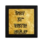 Dígalo con oro cajas de regalo