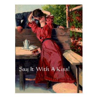 ¡Dígalo con un beso! - Postal