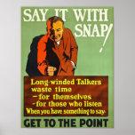 ¡Dígalo con una broche! Poster