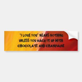 DÍGALO con una pegatina para el parachoques Etiqueta De Parachoque