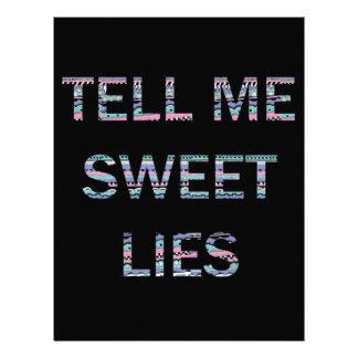 Dígame las mentiras dulces plantillas de membrete