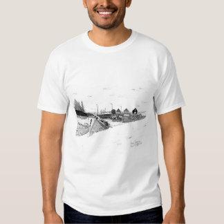Digby, Nova Scotia Fishing Boats Pen & Ink Shirt