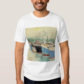 Digby, Nova Scotia, Fishing Boats, Watercolor Shirt