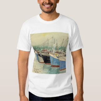 Digby, Nueva Escocia, barcos de pesca, acuarela Playera