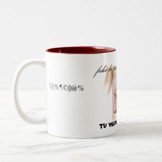 digestion in peace Two-Tone coffee mug