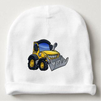 Digger Bulldozer Cartoon Baby Beanie