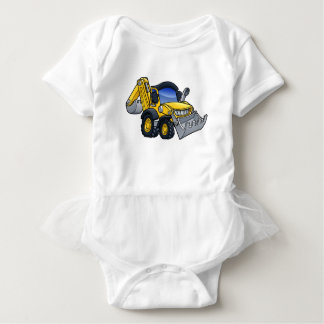 Digger Bulldozer Cartoon Baby Bodysuit