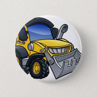 Digger Bulldozer Cartoon Button