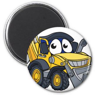 Digger Bulldozer Cartoon Character Magnet
