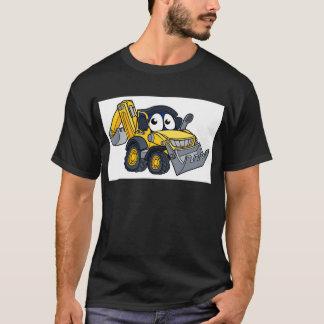 Digger Bulldozer Cartoon Character T-Shirt