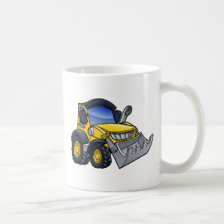 Digger Bulldozer Cartoon Coffee Mug