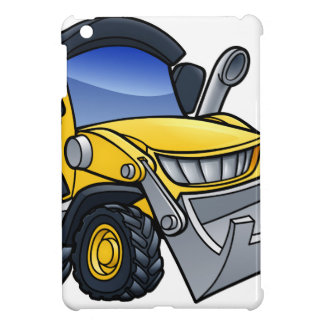 Digger Bulldozer Cartoon iPad Mini Covers