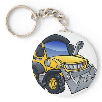 Digger Bulldozer Cartoon Keychain