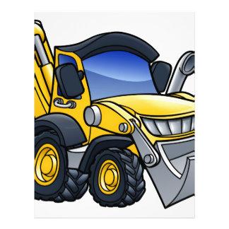 Digger Bulldozer Cartoon Letterhead