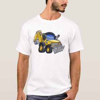 Digger Bulldozer Cartoon T-Shirt