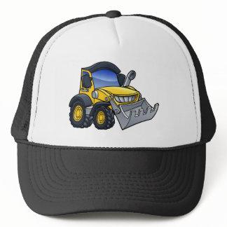 Digger Bulldozer Cartoon Trucker Hat