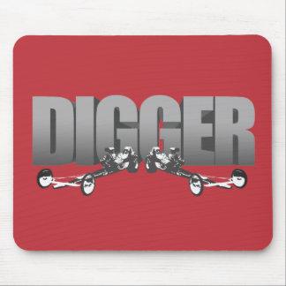 Digger Front Engine Slingshot Dragster red Mouse Pad