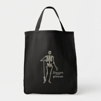 Digger, Please Grocery Tote Bag