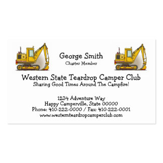 Digger Shovel Double-Sided Standard Business Cards (Pack Of 100)