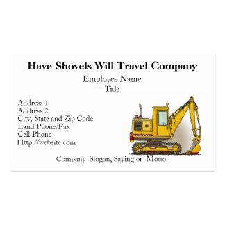 Digger Shovel Business Cards