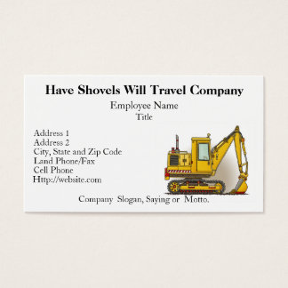 Digger Shovel Business Cards