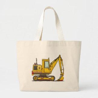 Digger Shovel Construction Bags/Totes Large Tote Bag