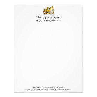Digger Shovel Letterhead