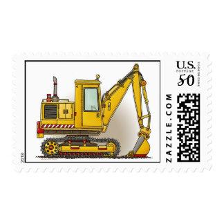 Digger Shovel Postage Stamp