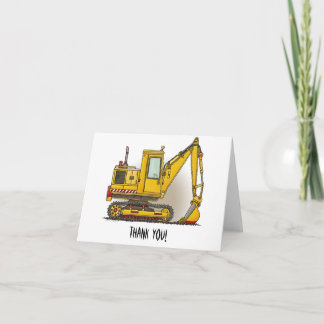 Digger Shovel Thank You Card