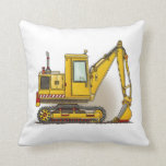 Digger Shovel Throw Pillow