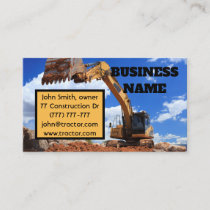 Digger Tractor Business Card