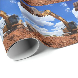 Digger Tractor Photo Wrapping Paper