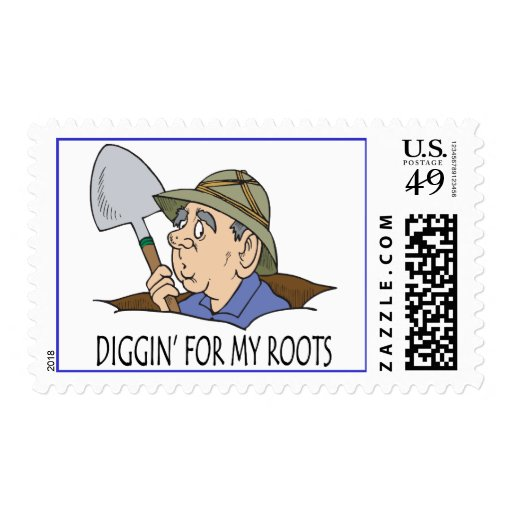 Diggin' For My Roots Postage Stamps