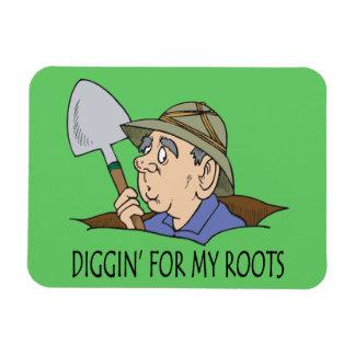 Diggin para mis raíces iman rectangular