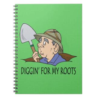Diggin para mis raíces libro de apuntes