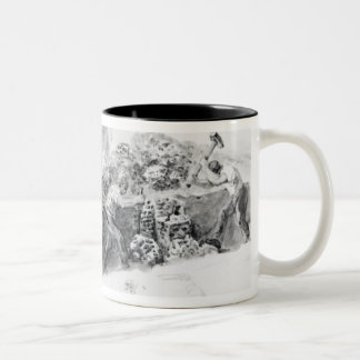 Digging a hole for the foundations Two-Tone coffee mug