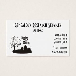 Digging For Roots Business Card