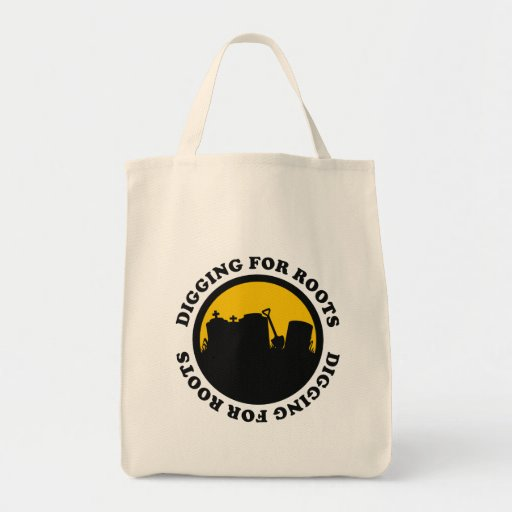 Digging For Roots Grocery Tote Bag