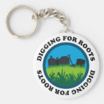 Digging For Roots Keychain