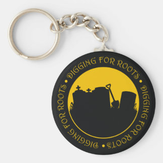 Digging For Roots Basic Round Button Keychain
