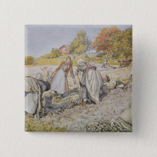 Digging Potatoes, 1905 Button