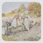Digging Potatoes, 1905 Square Sticker