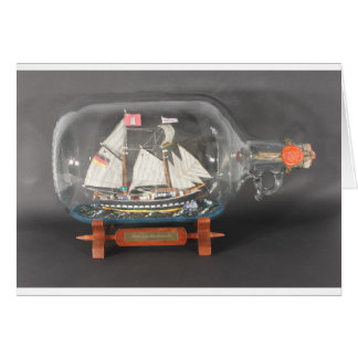 Digging ship Topsegelschoner of 4 litres of bottle Card