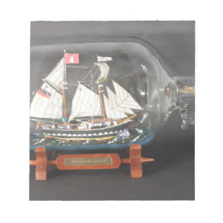 Digging ship Topsegelschoner of 4 litres of bottle Notepad